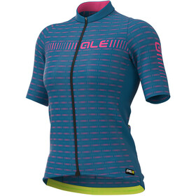 Alé Cycling Graphics PRR Green Road SS Jersey Women azure blue/fluo pink